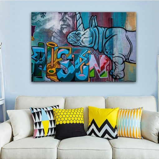 Modern & Eco-Friendly Graffiti Frameless Wall Posters For Kids