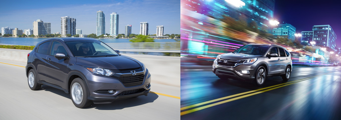 2016 Honda HR-V vs. 2015 Honda CR-V