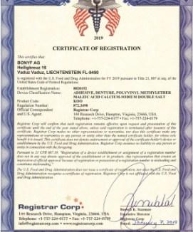 Certificate-FDA-OlivaFix-Gold