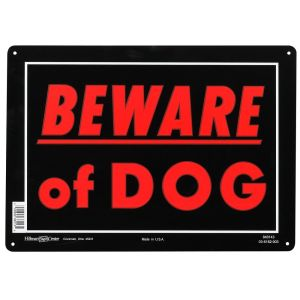 Hillman Sign Center Aluminum Beware of Dog Sign