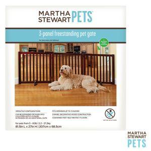Martha Stewart Pets 3 Panel Wood Pet Gate