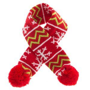 Pet Holiday Knit Dog Scarf