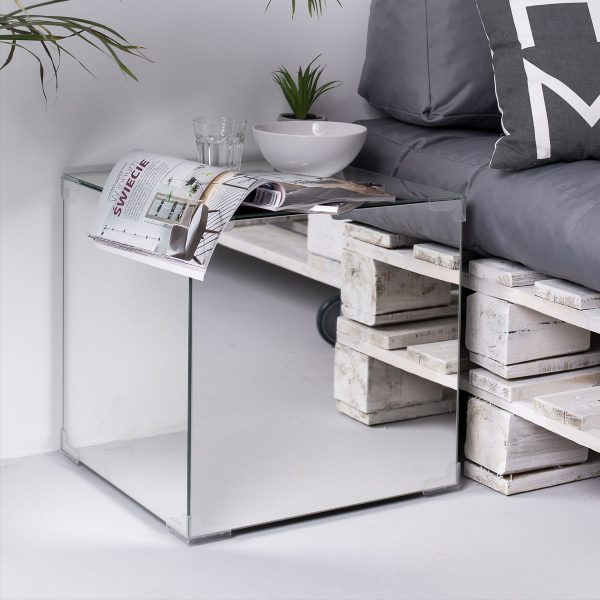 bedside table mirror glass