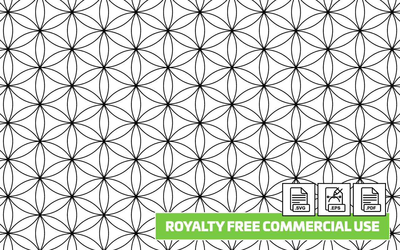 Flower of Life Seamless Pattern - Royalty Free - Paper Kawaii Shop