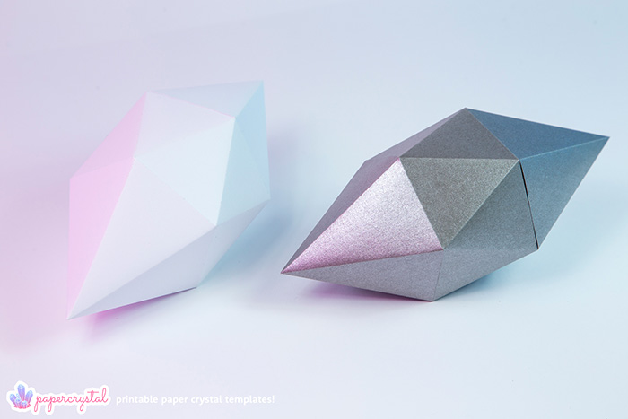 Printable Paper Diamond Gem Crystal Templates