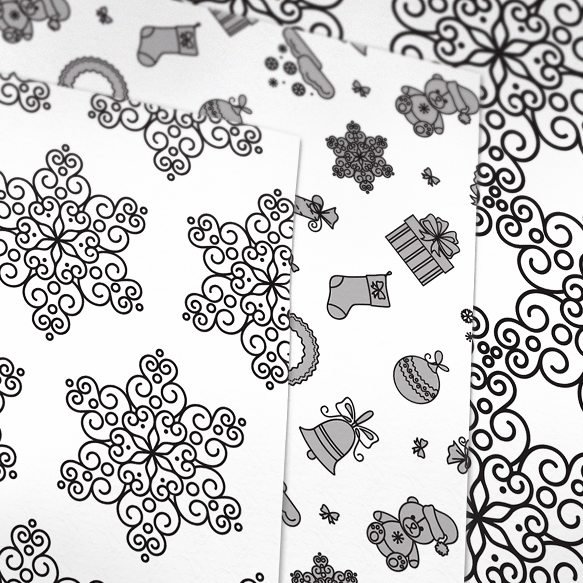 Christmas Patterned Printable Origami Paper