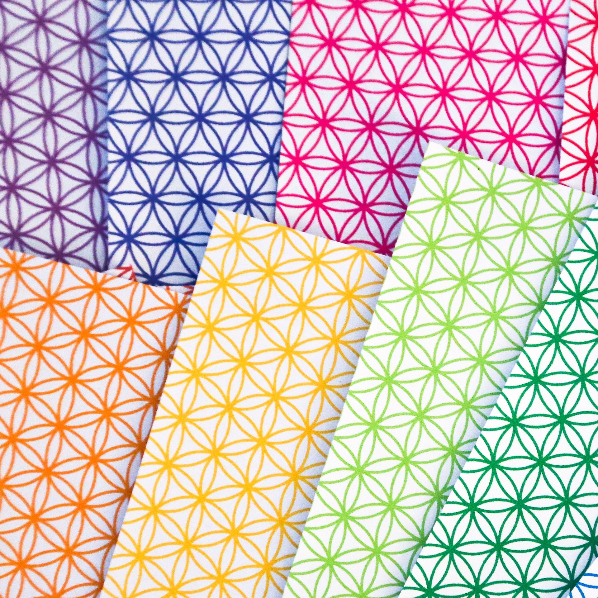 Flower Of Life Pattern Papers