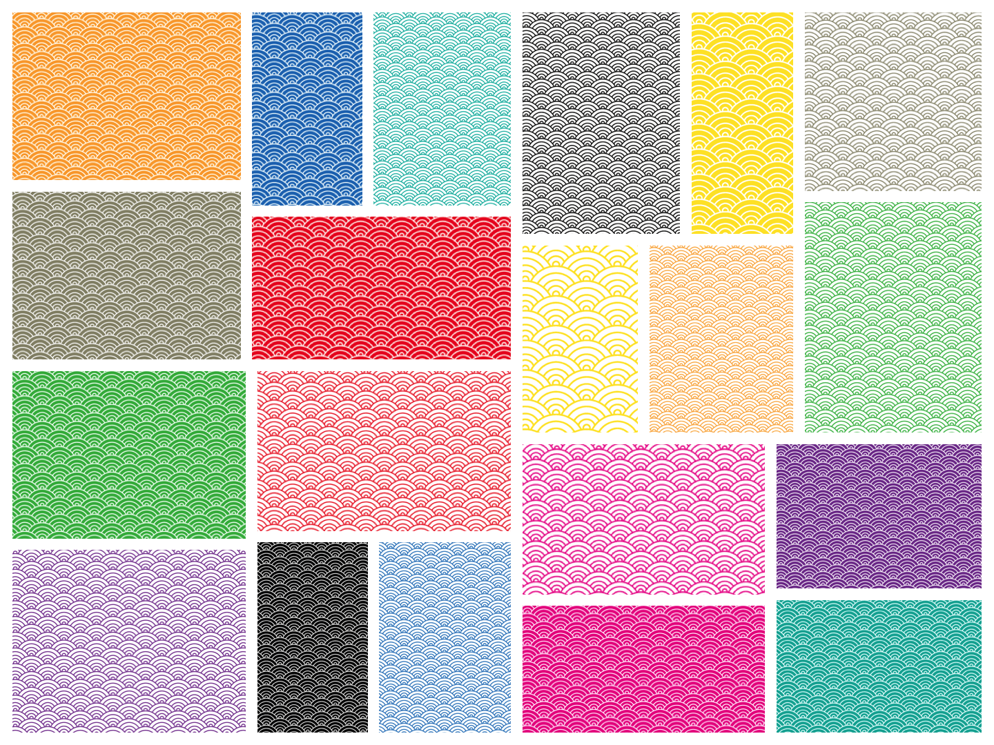 Japanese Seigaiha Printable Origami Paper