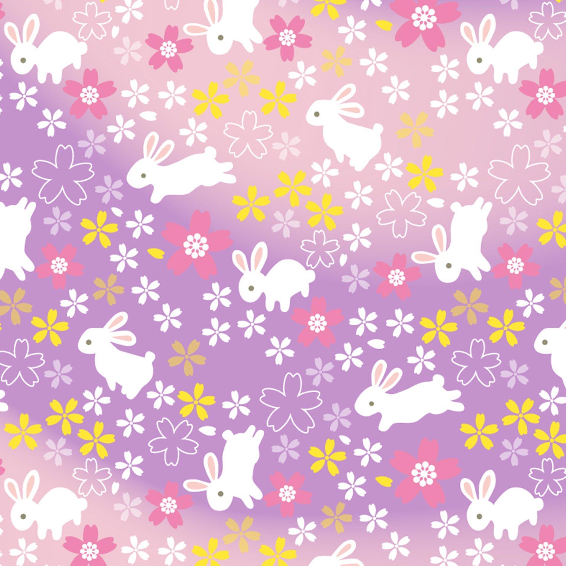 Bunny Rabbits Origami Paper - Gradients - Paper Kawaii Shop - photo#8