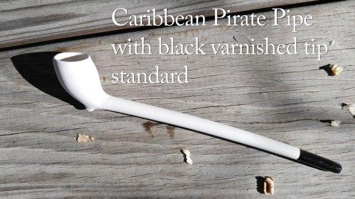 Caribbean Pirate Pipe with black varnish tip