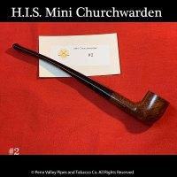 H.I.S. Italian Mini Churchwarden Briar Pipe at www.shop.pipeshoppe.com