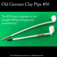 Old German clay Pipe #50 and #49sg at Pipeshoppe.com