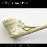 Old German Clay Farmer Pipe at Pipeshoppe.com