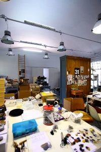 Tavolo di lavoro durante la progettazione