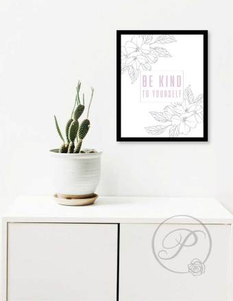 BE KIND TO YOURSELF ART LAYOUT