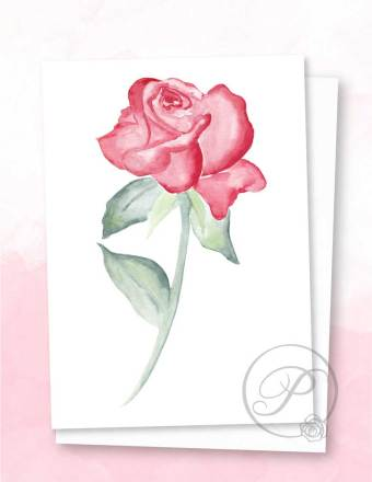 RED ROSE GREETING CARD LAYOUT