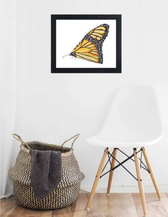 WATERCOLOR MONARCH BUTTERFLY WALL ART LAYOUT