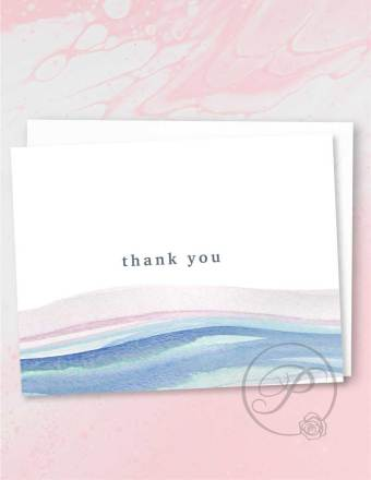 WATERCOLOR SUNSET THANK YOU CARD GREETING CARD LAYOUT