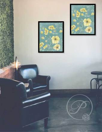 YELLOW FLORAL ART LAYOUT