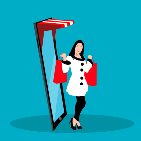 woman, shopping, e-commerce