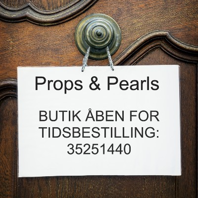 Props and Pearls - tidsbestilling