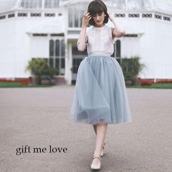 gift me love 愛禮 高級訂製 法式浪漫 簡約薄紗澎澎裙(AE19)高腰顯瘦澎澎紗裙 附綁帶