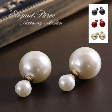 AccessoryShopBarzaz   Rakuten Global Market  Earrings large     Earrings large reversible Pearl Titan post accessories elegant classy pearl  earrings and beautiful Pearl Earrings Pearl Earring earrings party usually  use