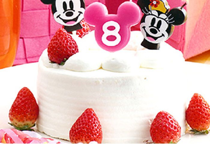Livingut Disney Candle Candlelight Mickey Minnie Face Type Birthday