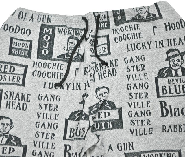 Gangsterville Mojo Sweat Pants Gray Gang Star Building Whole Pattern Jacquard Sweat Shirt Underwear Gladhand