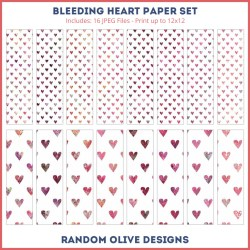 Heart Patterned Paper - shop.randomolive.com