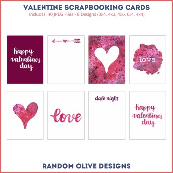 Pocket Scrapbooking Cards - shop.randomolive.com