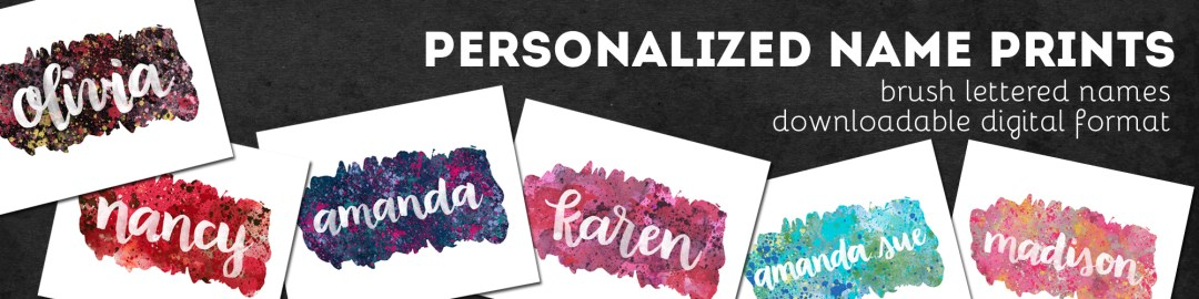 Personalized Name Prints - shop.randomolive.com