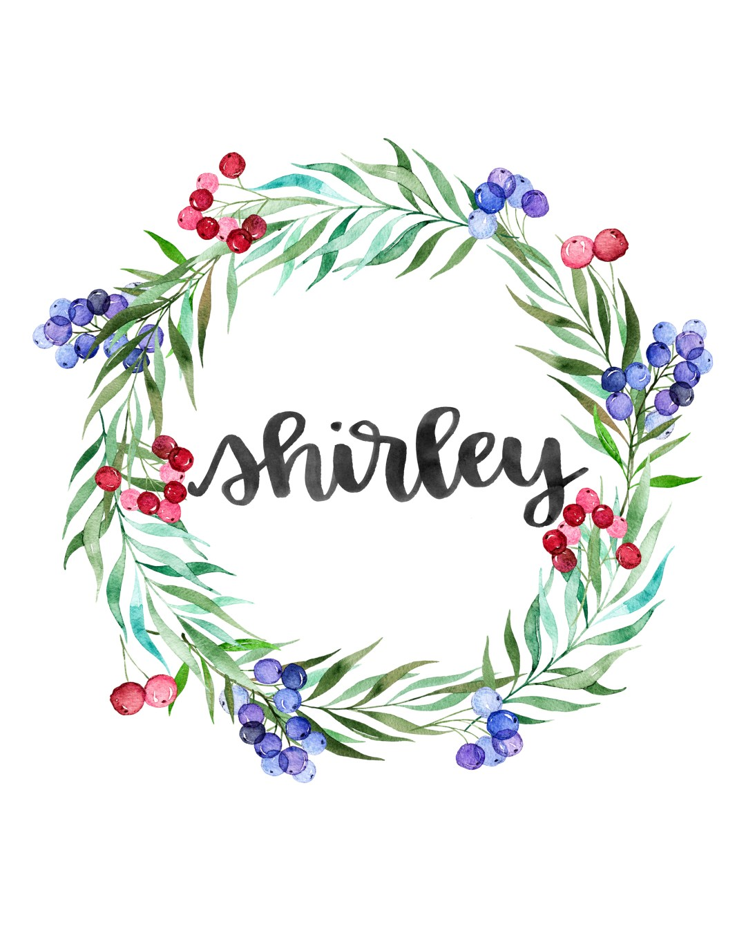 Personalized Wreath Prints - bit.ly/olivewreaths