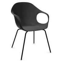 Kristalia ELEPHANT Stuhl schwarz mit Vierfußgestell ...