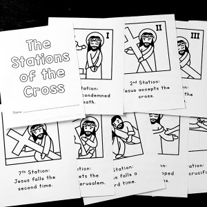 Printable Stations of the Cross for Kids {Free Printable Booklet}
