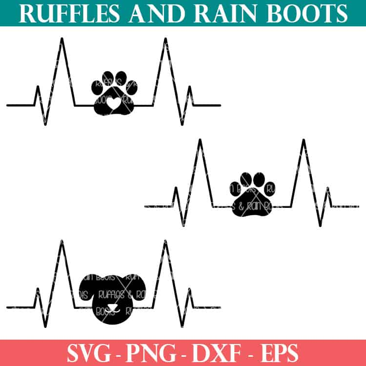 Download Dog Heartbeat SVG - Dog Cut Files for Cricut and ...