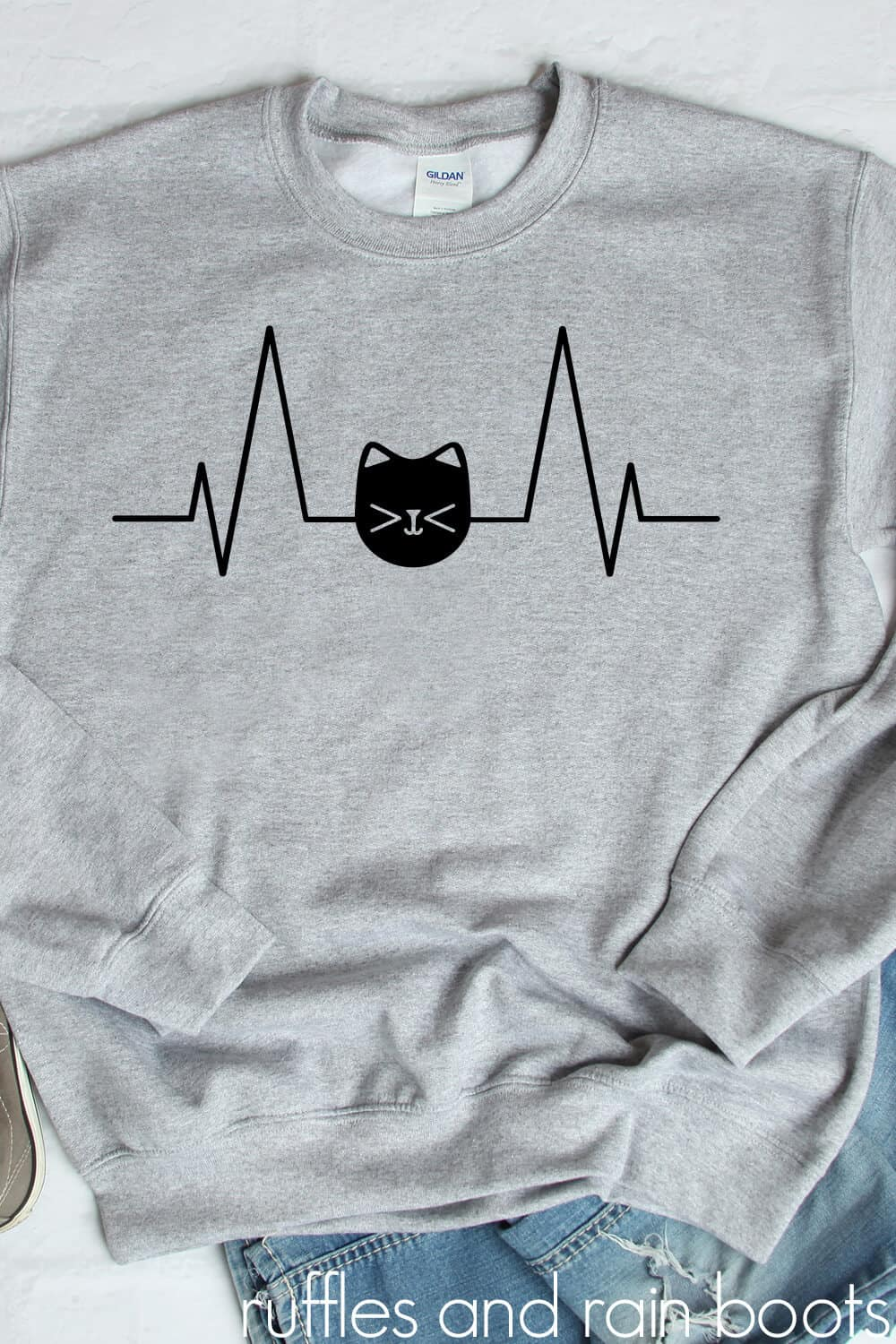 Download Cat Heartbeat SVG - Cat Cut Files for Cricut and ...