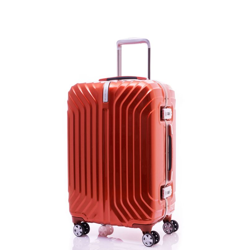 Samsonite Tru Frame Collection 20 Spinner In The Color Flame Orange