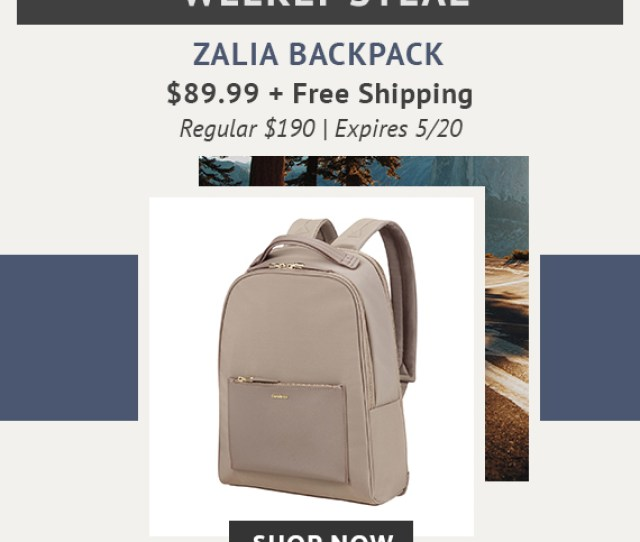 Limited Time Only Weekly Steal Zalia Backpack Now Only 89 99 Plus Free Standard Shipping  C2 B7 From Business To Pleasure We Have The