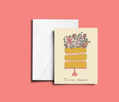 Celebration Cake Greetings Card