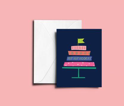 Washi Tape Cake Greeting Card