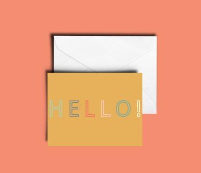 Hello Greeting Card