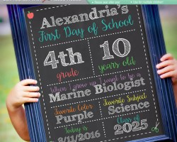 original editable first last day of school chalkboard sign instant