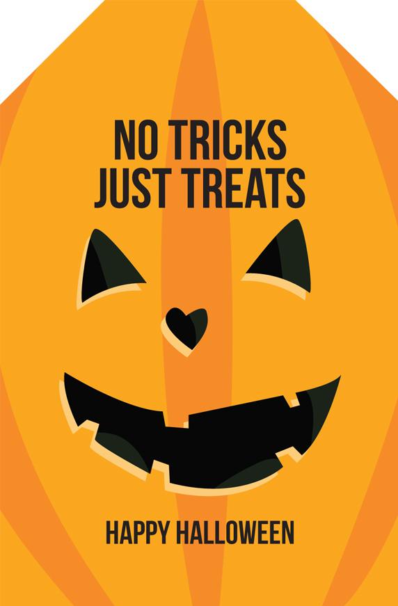 No Tricks Just Treats Tag