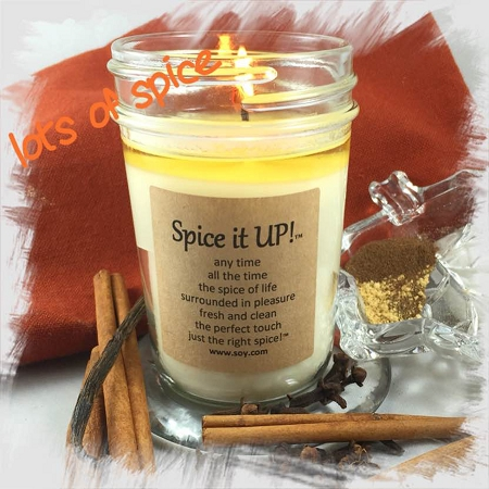 spice it up soy wax candle
