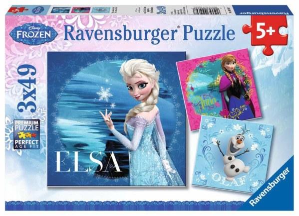 DFZ: Elsa, Anna & Olaf 3x49p-3 X 49 Teile | Ravensburger Spielverlag