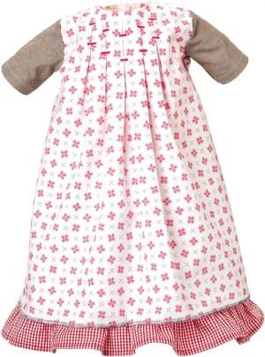 Kleid weiß-rot mit Unterrock | Käthe Kruse