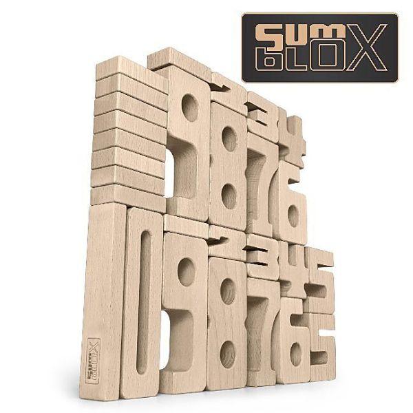 SumBlox Holzbausteine Einsteiger Set (27 Holzbausteine) | ESM Vision GmbH