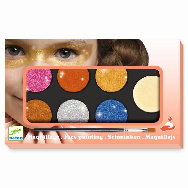 Kinderschminken: Palette 6 Farben - Metallic   Djeco