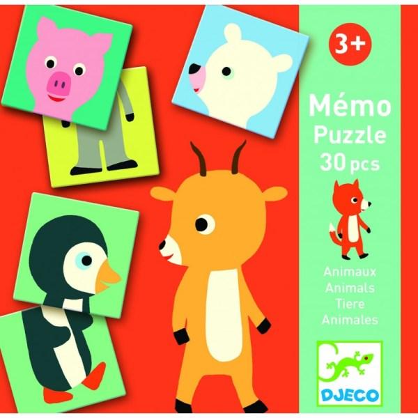 Lernspiele: Memo Animo-puzzle   Djeco